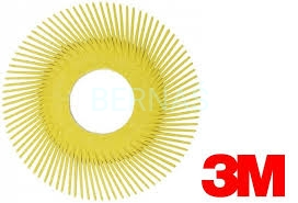 3M BB-ZB Radial Bristle Brush Yellow 152mm wkład